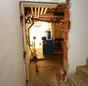 Durchbruch an der Kellertür.