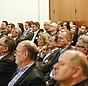 """Das Publikum auf der Fachkonferenz """"Wirksam sanieren für den Klimaschutz"""""""